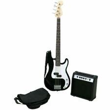Oypla 3691OYP15W Amp PB Precision Style 4 String Electric Bass Guitar - Black
