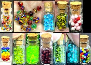 10 STUCKENBERG GLASS MICRO MARBLES-CONFETTI 10 MICRO SAMPLER-BUMBLE BEE,GR NEMO+