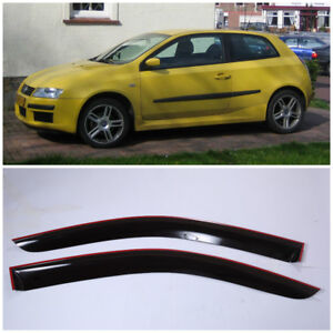 FE21701 Window Visors Sun Guard Vent Wide Deflectors For Fiat Stilo 3d 2001-2006
