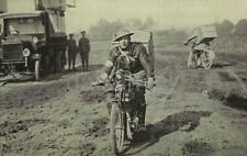 """British Army Motorcyclist With Carrier Pigeons World War 1 7x4"""" Reprint Photo gw"""