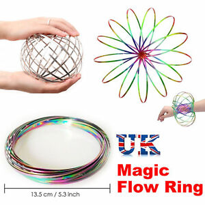 New Toy Spring Flow rings Outdoor Game Intelligent Flow Ring Infinity Arm Slinky
