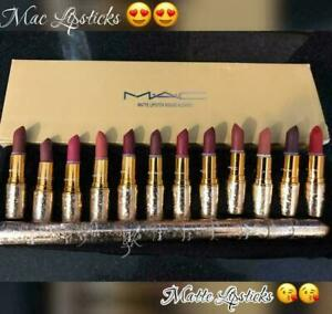 SET OF 12 X MAC LIPSTICK//100% ORIGINAL//BEST RESULTS//PROPERLY SEALED