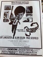M3-2 Ephemera 1974 Advert Film Scorpio Michael Winner Delon Scofield