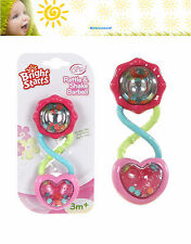 Baby Rattle Bright Starts Pretty in Pink Barbell Easy Grip Reflects Light
