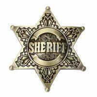 Sheriff Western Men's Belt Buckles women Texa Cowboy Rodeo Vintage belt buckle