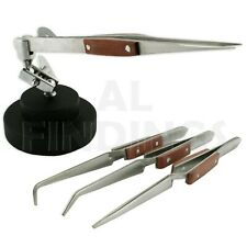 3rd Hand Base Vice set 4 cross lock locking tweezer Soldering Jewellers Tool