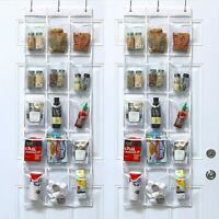 """15 clear pockets hanging pantry organizer Over the Door Hanging Pantry 52"""" x 18"""""""