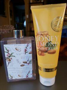Set of 2 Asquith & Somerset Vanilla Almond Hand Wash AND Honey Almond Hand Cream