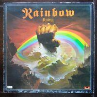 "BLACKMORE'S RAINBOW RAINBOW RISING 1976 2490 137 12"" UK OYSTER GATEFOLD LP EX+"