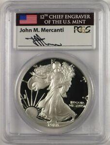 1988-S $1 Proof Silver Eagle PCGS PR70 DCAM John Mercanti Signed