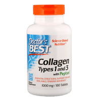 Doctor's Best - Collagen Types 1 & 3 + Peptan 1000 mg 180 Tabs Hair Skin Nails
