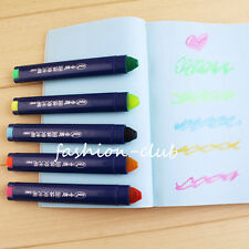 1x Gel Highlighter Jelly Chalk Craft Marker Pen Soluble Crayon Office Stationery