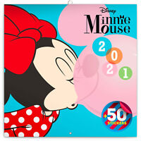 MINNIE MOUSE DISNEY CALENDAR 2021 SQUARE WALL ( 30cm x 30cm ) NEW WITH STICKERS