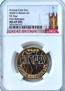 2020 £2 VE Day Two Pounds NGC MS69 DPL Great Britain BU