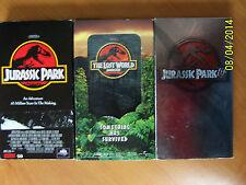 3 Jurassic Park Vhs Movies:Jurassic Park, Jp The Lost World, Jurassic Park Iii