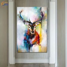 ZOPT642 multi-color charmed animal deer hand painted oil painting art on canvas