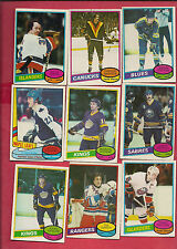1980-81 OPC BIG STARS CARD LOT INCLUDE (SALMING SITTLER POTVIN ESPOSITO )