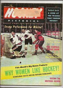 1968 February Hockey Pictorial Stan Mikita Why women like hockey