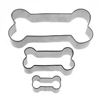 Dog bone Cookie Cutter Baking biscuit Fondant Pastry Candy Metal Mold set