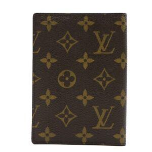 LOUIS VUITTON Couverture passport case M60181 Monogram canvas Brown LV