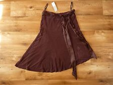 Chocolate Brown Vintage-look Asymmetrical skirt. Brand New!  (Size 10)