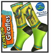 Laurel Burch Rainbow Giraffes Socks