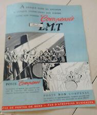ancienne depliant publicitaire radio LMT COMPENSES
