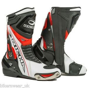 Richa Blade Waterproof  Boot - Blade Sports Boots Black/White/Red PQ