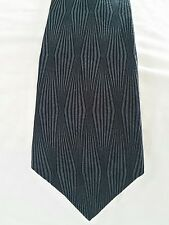 Neck Tie Silk NEO Bill Blass Black Gray Diamond Design Men's Costa Rica AN 19388