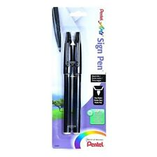 Pentel Arts Sign Pen Porous Point Pen Black Ink Water Based Fine Tip 2Pk 23628