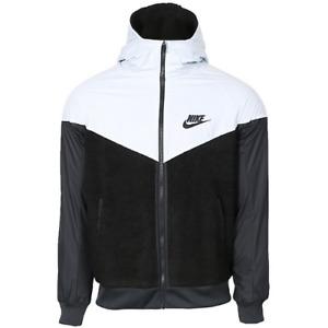 NEW Nike Sportswear Windbreaker Jacket AA0069-010 Boy's Size Medium Black/White