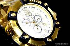 Mens Invicta Reserve Grand Arsenal Watch 63mm Swiss Chronograph Gold White New