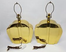 (2) Pair of Solid Brass Designer Chapman Lamps 1982  Free Shipping