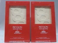 REVLON - LOT OF 2 - AGE DEFYING WITH DNA ADVANTAGE POWDER - 05 LIGHT/PALE - NEW