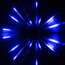 Blue 50CM 240 LED 8 Tube Meteor Shower Rain Light 110V Xmas Party Garden Decor