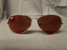 Ray-Ban Aviator Flash Sunglasses Bronze Frame Red Lens Large DISPLAY MODEL!