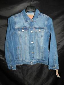 Levi's L Boys NWT Blue Jean Denim Trucker Jacket 12-13 Years Button Unlined NEW