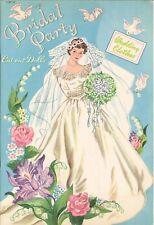 VINTG UNCUT 1950S BRIDAL PARTY PAPER DOLL LASR REPRODUCTIN~LO PR~NO1 FREE SH