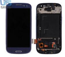 Für Samsung S3 i9300 Bildschirm LCD Display TFT + Rahmen Dark Blue