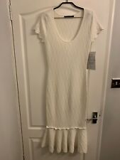 KAREN MILLEN  IVORY KNIT DRESS SIZE S