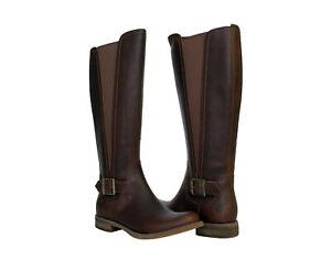 Timberland EK Savin Hill Tall Medium Shaft Brown Women's Riding Boots A124I