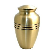 """Well Livedâ""""¢ Brass Engraved Band Adult Cremation Urn for human ashes"""