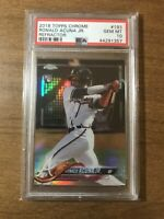 2018 Topps Chrome Refractor #193 Ronald Acuna Jr. RC PSA 10 Gem Mint Braves RARE