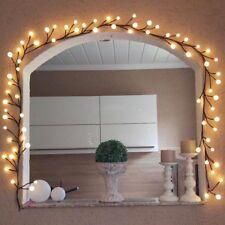 LED Globe String Light Warm White DIY Rattan Fairy Light w/ 72 Bulbs Waterproof