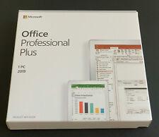 MS Office 2019 Pro Plus 1PC Windows Retail New Sealed Box DVD