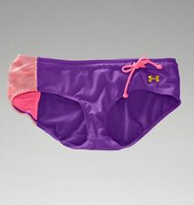 UNDER ARMOUR Swim Euro Boy Shorts NWT Large Purple Pink 1227247-524