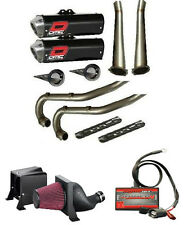 Raptor 700 DMC Force 4 Black Exhaust Package W/ PC5 EFI Fuel Customs FCI Intake