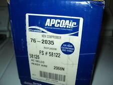 APCO AIR AC COMPRESSOR W/CLUTCH ASSY NEW 76-2035 FORD TRUCK