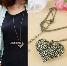 Fashion Hollow Heart Retro long Pendant sweater Chain Necklace ZS130