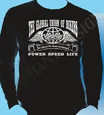 Biker T-Shirt Bikers Mens Long Sleeve Global Union Of Cafe Racer Ton Up Boys